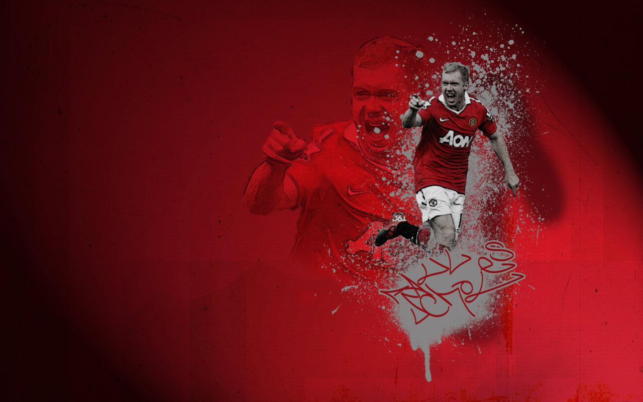 World sports hd wallpapers manchester united paul scholes - Cool man united wallpapers ...
