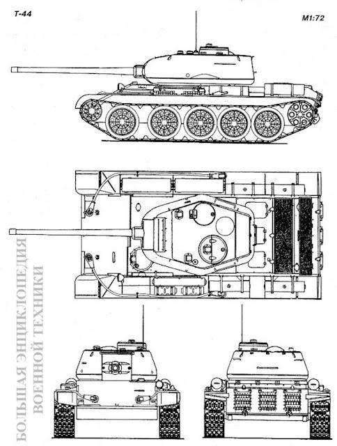 Общий вид танка Т-44