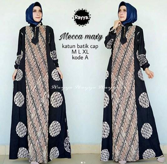 Model Baju Muslim Gamis Batik: 57 Model Gamis Batik Modern 2019