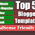5 Blogger Templates AdSense Friendly Download Free 2019