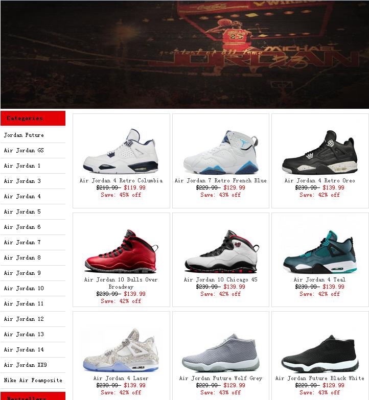 Jordan shoes online shopping