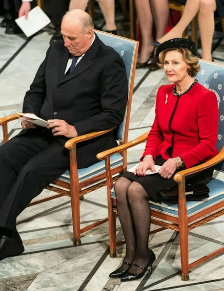 King Harald and Queen Sonja, Crown Prince Haakon and Crown Princess Mette Marit