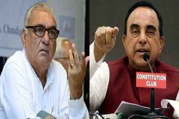 subramanian-swamy-says-bs-hooda-is-illiterate-like-rahul-gandhi