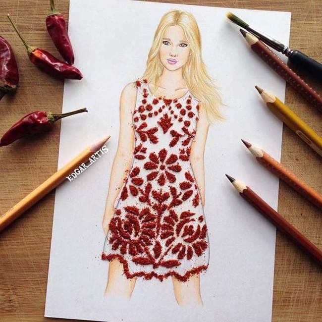 Food Fashion By Armenia Fashion Illustrator Edgar Artis