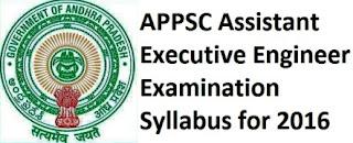 appsc aee exam syllabus 2016