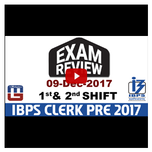 Exam Review With Cut Off | IBPS Clerk Pre 2017 | 9th Dec - 1st & 2nd Shift