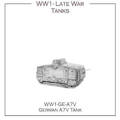 10mm Wargaming: Five New WWI Tanks from Kallistra