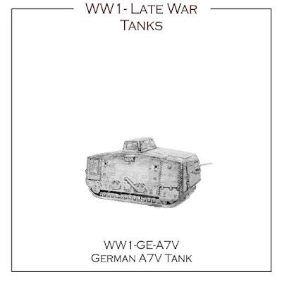WW1-GE-A7V German Late War Tank - A7V