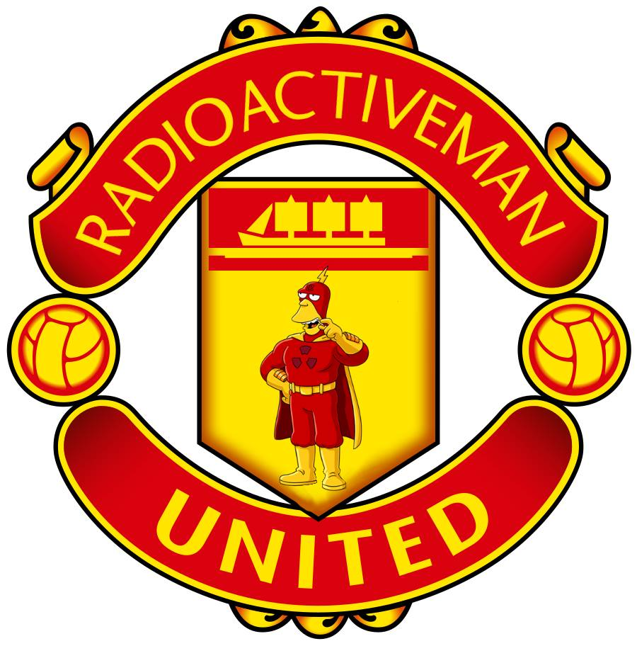 The Simpsons' version logo of Manchester United