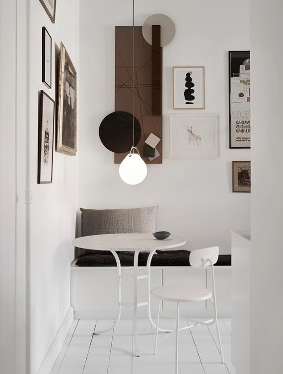 Scandinavian breakfast nook. Image via Lene Rønfeldt