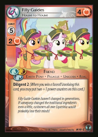 My Little Pony Filly Guides, House to House Defenders of Equestria CCG Card