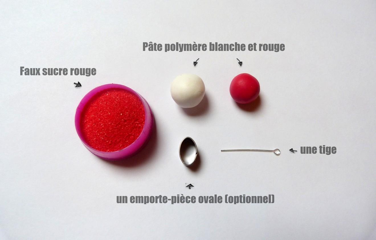 femme qualité supérieure magasin Méli-Mélo bijoux: Tuto fimo : la fraise tagada croquée