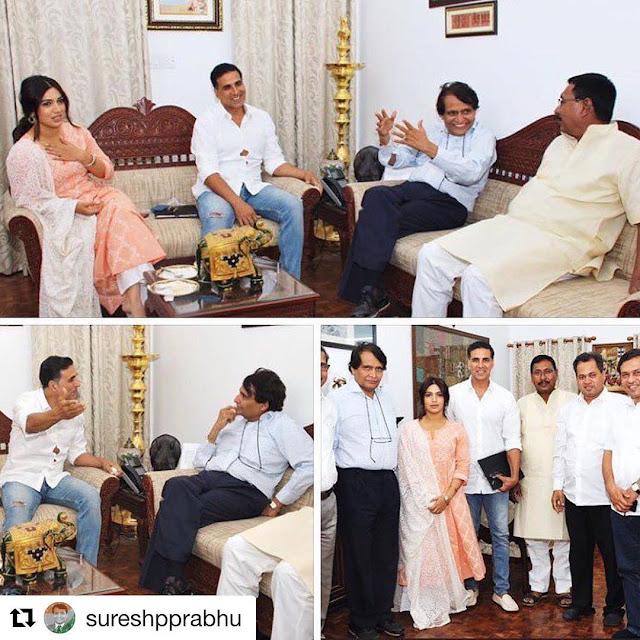 Suresh Prabhu Praised Akshay Kumar