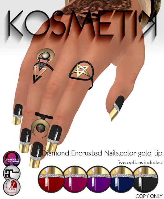 .kosmetik Diamond Encrusted Nails