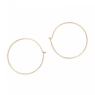 Large Hoop Earrings - Solid Yellow Gold - Daisy London - Jewellery London