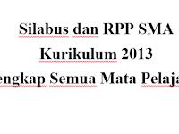 Silabus dan RPP SMA Kurikulum 2013 Revisi 2017/2018 Lengkap