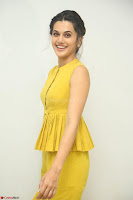 Taapsee Pannu looks mesmerizing in Yellow for her Telugu Movie Anando hma motion poster launch ~  Exclusive 063.JPG