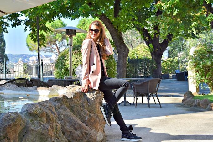 Un blazer rosa e i miei nuovi scarponcini Sorel