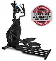 Bodyguard E45 Elliptical Cross Trainer, review features compared with Bodyguard E40, with 8 user ID profiles, 17 preset programs, 20 magnetic resistance levels, commercial build quality