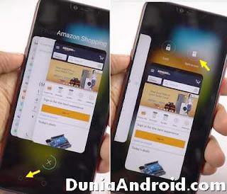 Tombol recent app di realme untuk split screen