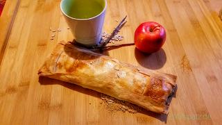 Vegan-Apfelstrudel-schnell-lecker-knusprig-gebacken