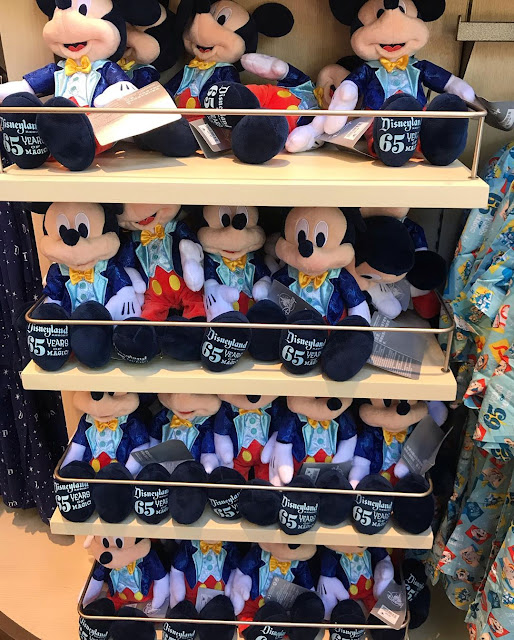 Mickey Plush Disneyland Park 65th Anniversary Celebrate 65 Years of MAGIC New Merchandise