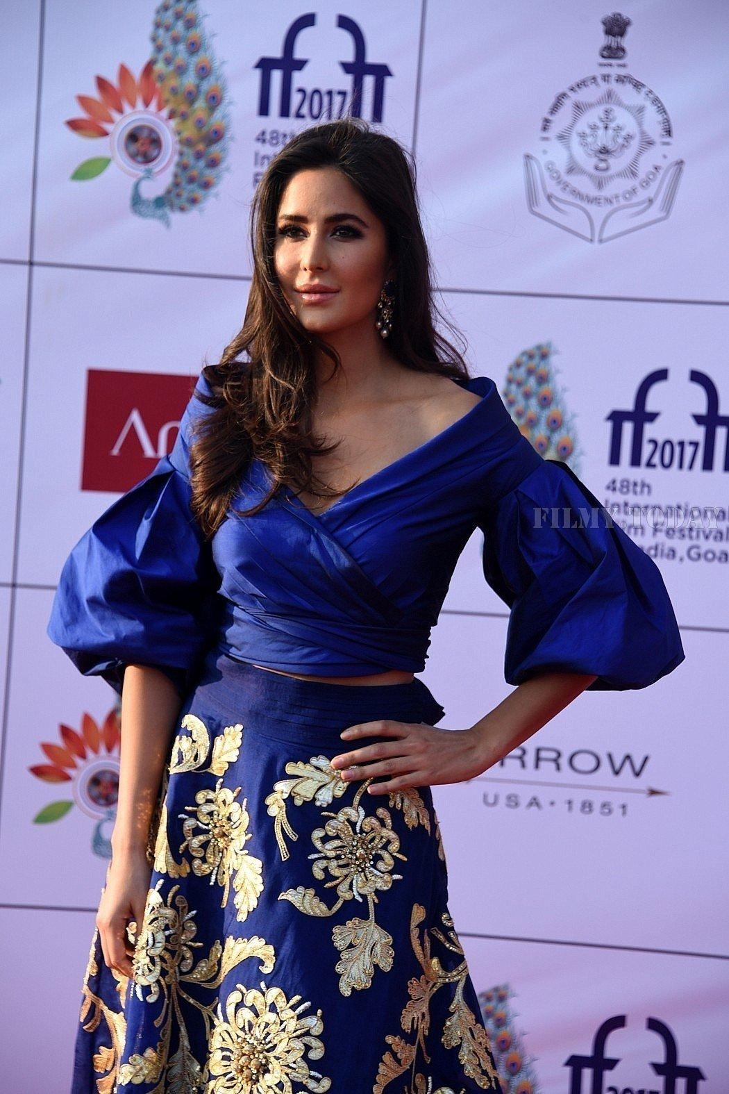 Katrina Kaif Shines in blue dress at 48th IFFI 2017 Closing Ceremony