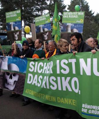 Verdes contra energia nuclear