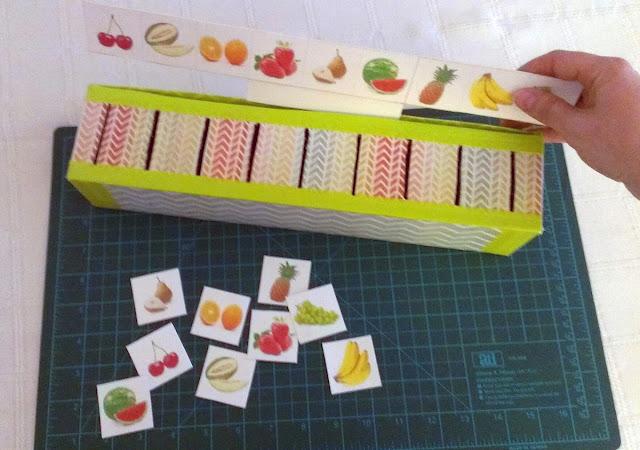 DIY juego frutas