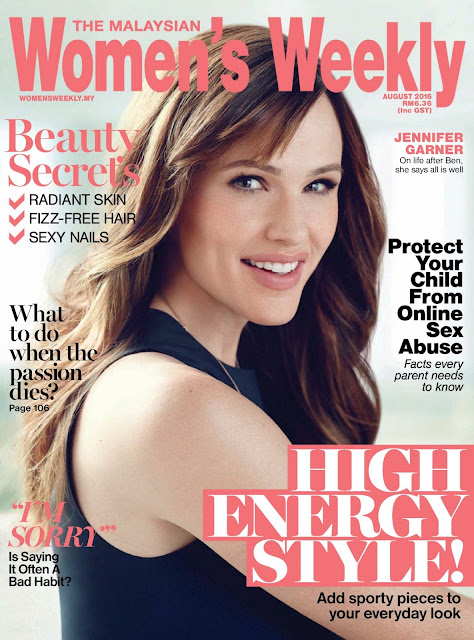 Actress, @ Jennifer Garner – Women's Weekly Magazine Malaysia August 2016