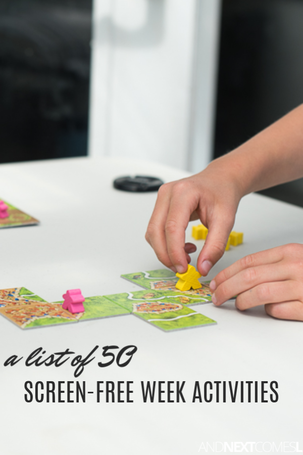 50 activities for kids to do during screen-free week