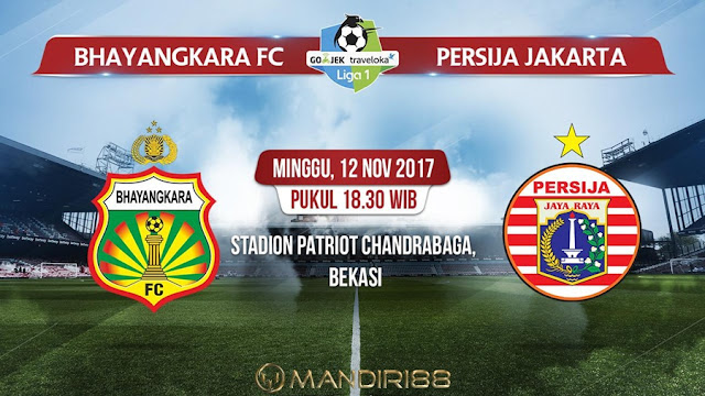 Prediksi Bola : Bhayangkara FC Vs Persija Jakarta , Minggu 12 November 2017 Pukul 18.30 WIB