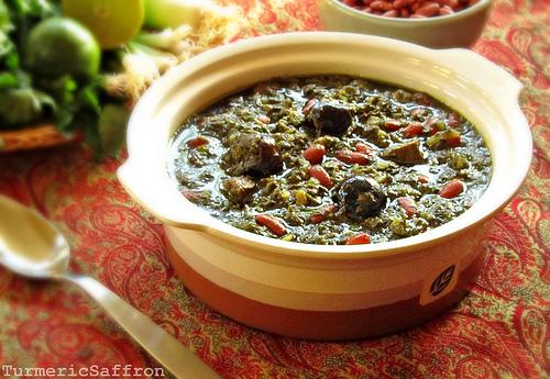 Turmeric saffron ghormeh sabzi persian herb stew ghormeh sabzi persian herb stew forumfinder Images