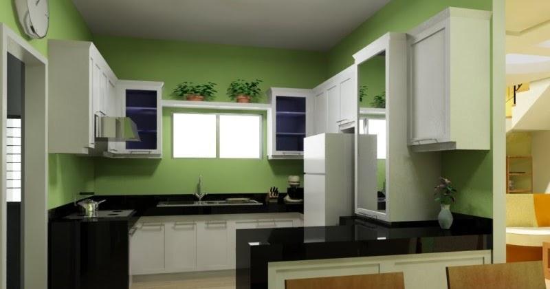 14 Kabinet Dapur Kecil Cantik Dan Warna Hijau Paling Dicari