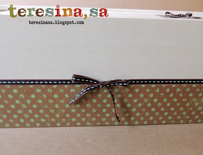 Caja de madera reciclada en caja para guardar pequeños objetos