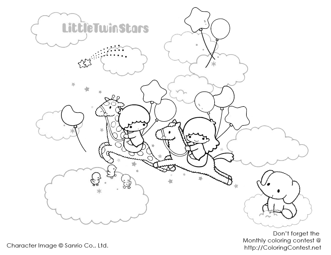 Cartoons Coloring Pages My Melody