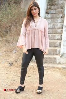 Telugu Actress Aditi Singh Stills in Leather Pants at Nenu Kidnap Iyanu Movie Press Meet  0238.JPG