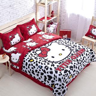 Gambar Sprei Motif Hello Kitty yang Lucu 10