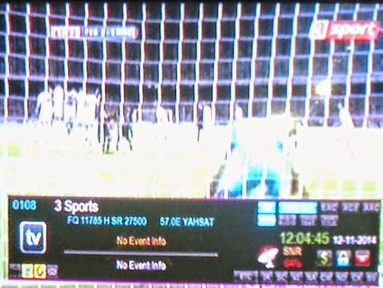 3 Sports Frequency On Yahasat 52 5E By SL