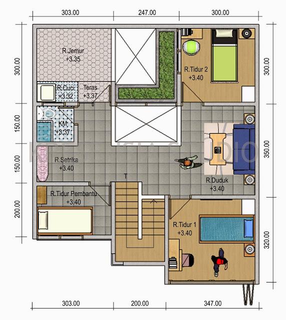 denah rumah minimalis sederhana