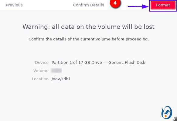 Set options on the USB drive