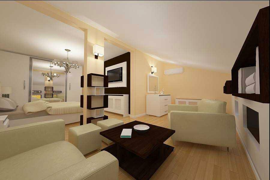 design interior mansarda vila Constanta