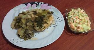 Pırasalı Tavuk ve Kereviz Salatası