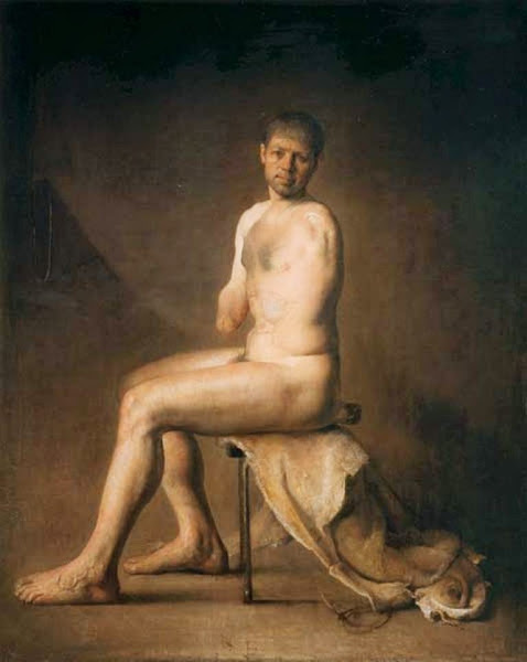 Unarmed Man, Odd Nerdrum, Macabre Art, Macabre Paintings, Horror Paintings, Freak Art, Freak Paintings, Horror Picture, Terror Pictures