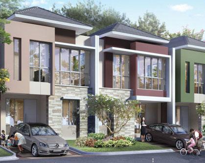 tampak depan rumah minimalis ukuran 7x11 meter 3 kamar tidur 2 lantai