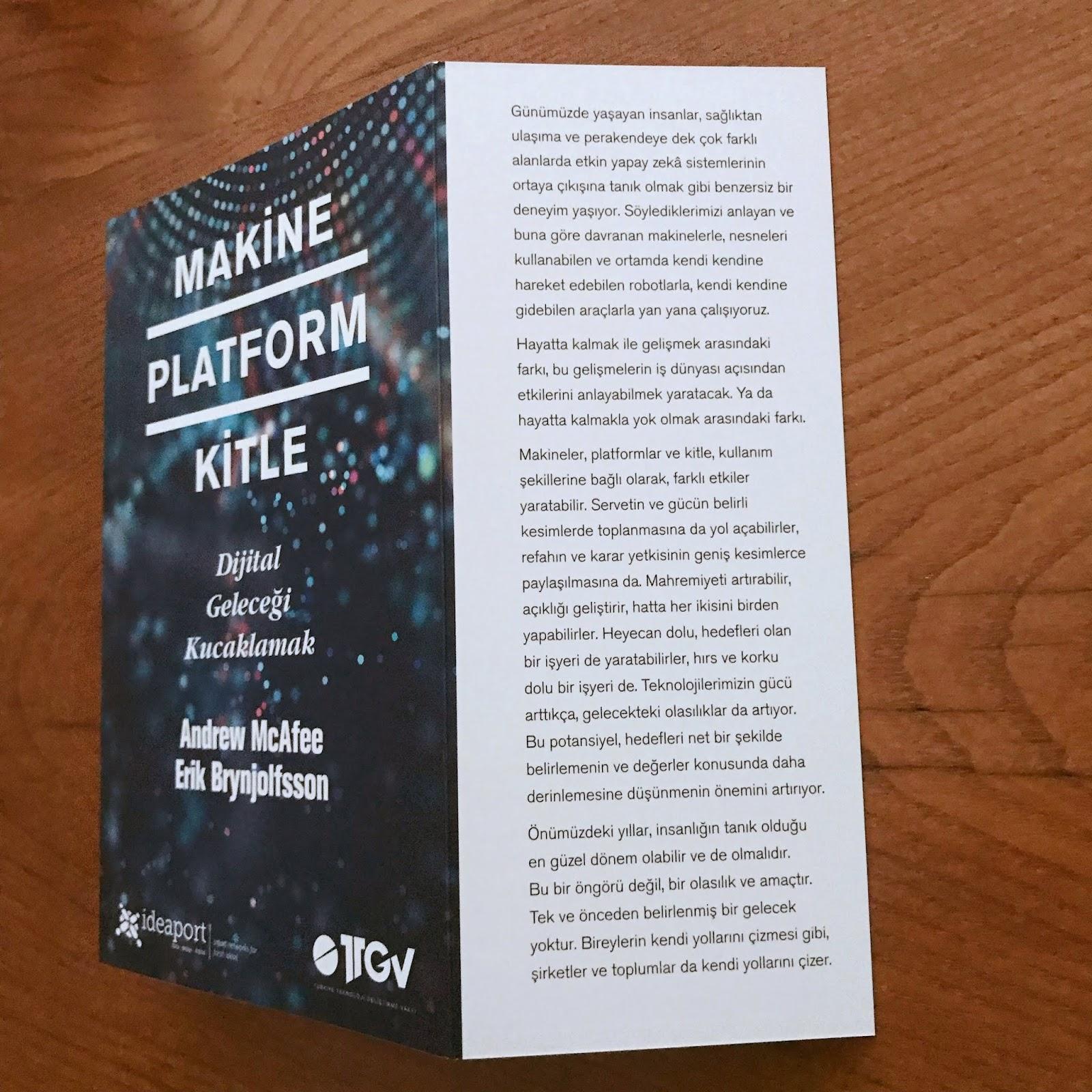 Makine Platform Kitle - Dijital Gelecegi Kucaklamak (Kitap)