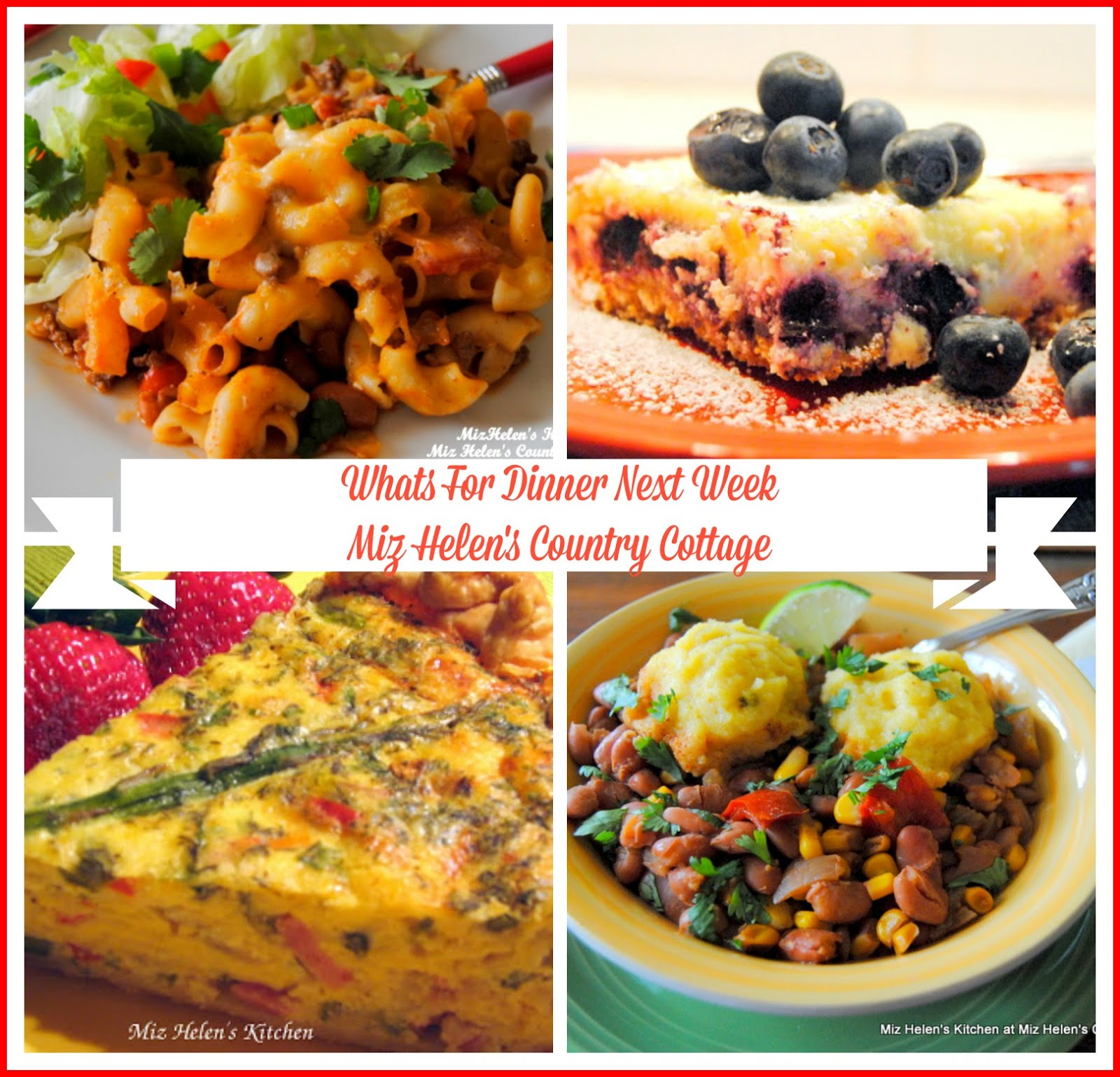 Whats For Dinner Next Week * Week of 9-27-2