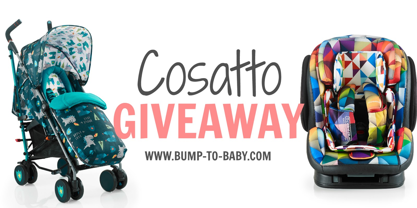 pram giveaway, car seat giveaway, cosatto giveaway,