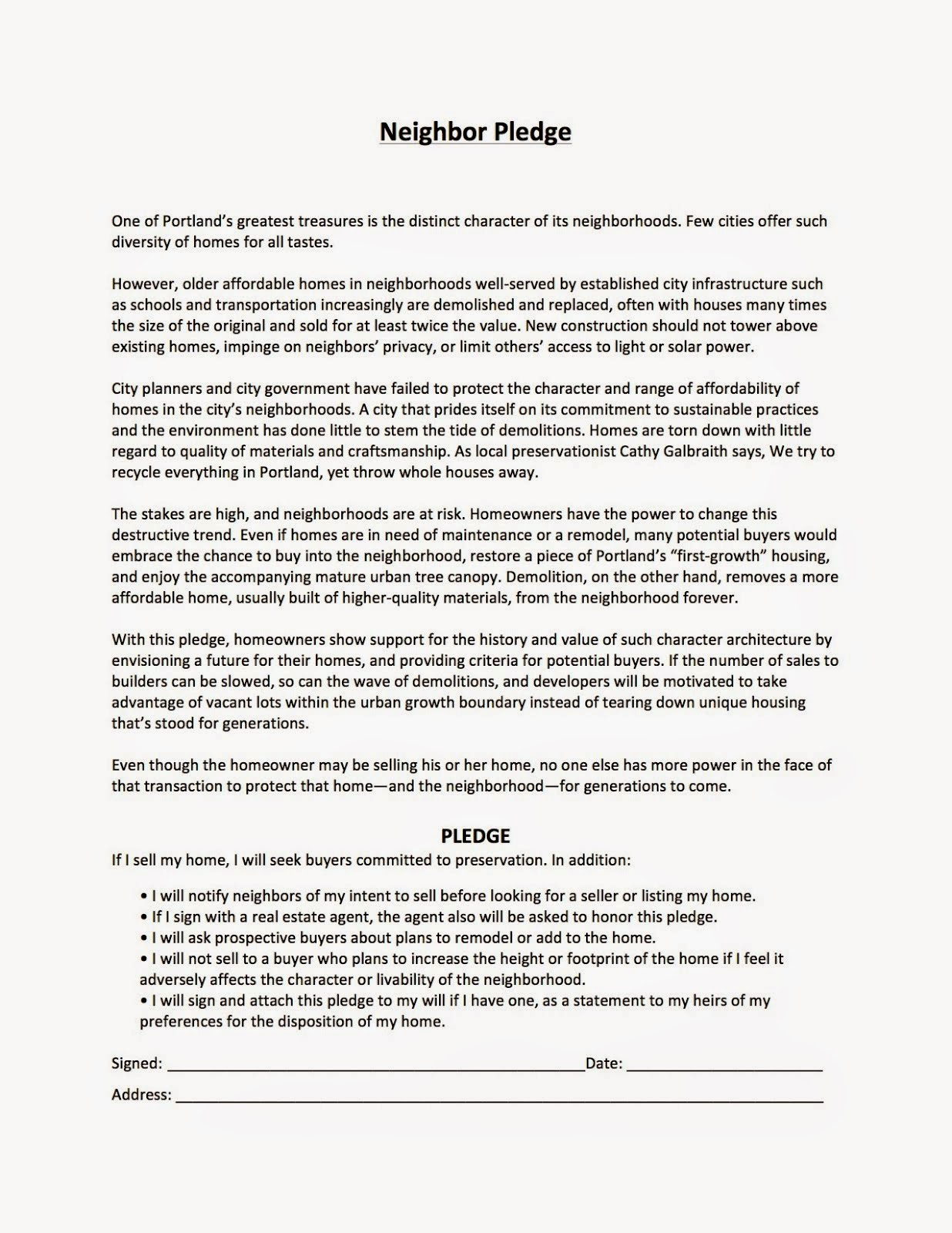 Take the neighbor pledge! Print or copy text from full-size version at bottom of blog page