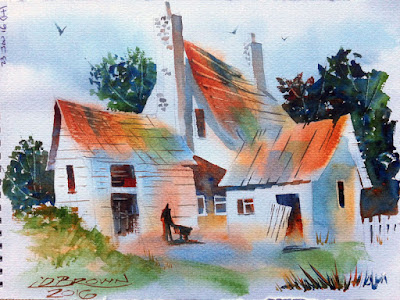 Watercolour Painting by Ian Davy Brown
